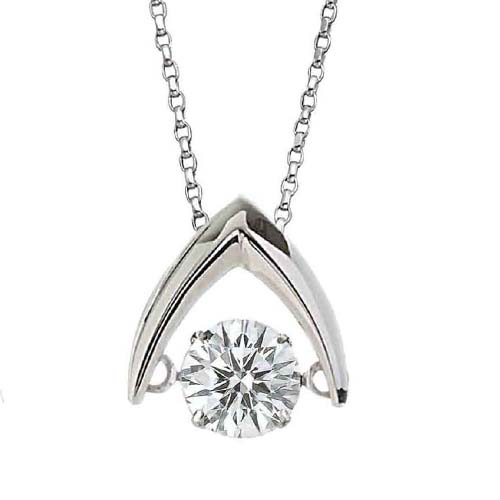Dancinng Stone diamond pendant