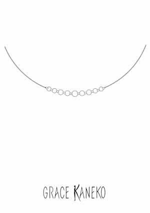ダイヤモンドネックレスのデザイン画